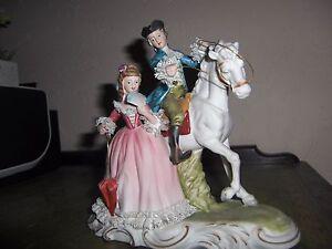 Vintage-Nostalgia-Ceramic-biscuit-Porcelain-Figurine-German-French-Dresden
