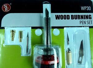 Professional 9pc Wood Burning Pen & Fer à Souder Conseils Set Travail Du Bois Brûleur-afficher Le Titre D'origine Convient Aux Hommes, Femmes Et Enfants