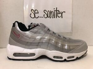 71771cd6b2 Men's Nike Air Max 95 Premium QS Metallic Silver Bullet Red 918359 ...