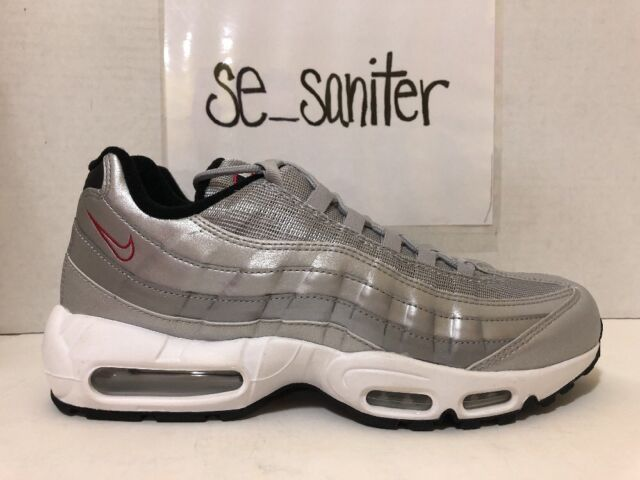 new arrival dcf53 c591e Men s Nike Air Max 95 Premium QS Metallic Silver Bullet Red 918359 001 Size  12