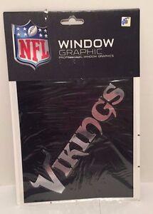 NEW-Minnesota-Vikings-Chrome-Window-Graphic-Silver-Sticker-Decal-Car-Auto-NFL