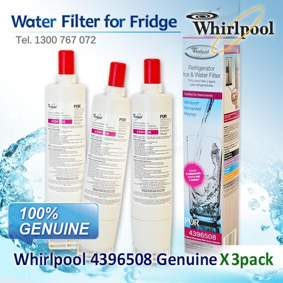 3x WHIRLPOOL  FRIDGE WATER FILTER 4396508 8212652GENUINE