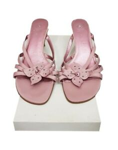 d0156c4f CLARKS Shoes Size 5.5 Pink Sandals Holiday Xmas Party Cocktail ...