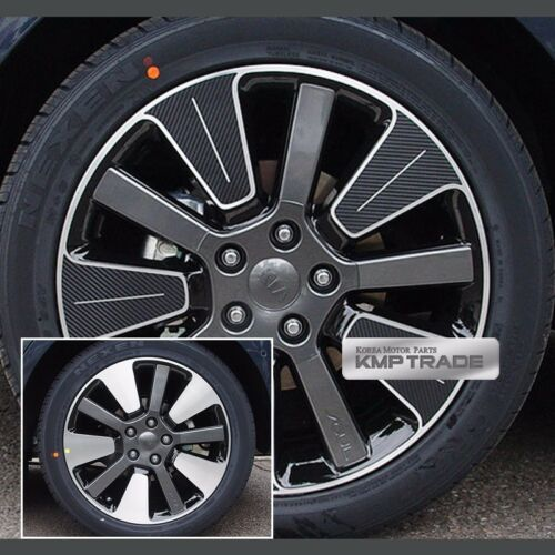 "Carbon Black Spoke Wheel Vinyl Decal Sticker 18/"" 20P for Chevy 2014-2018 Soul"