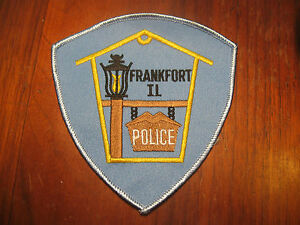 ILLINOIS POLICE PATCH  FRANKFORT