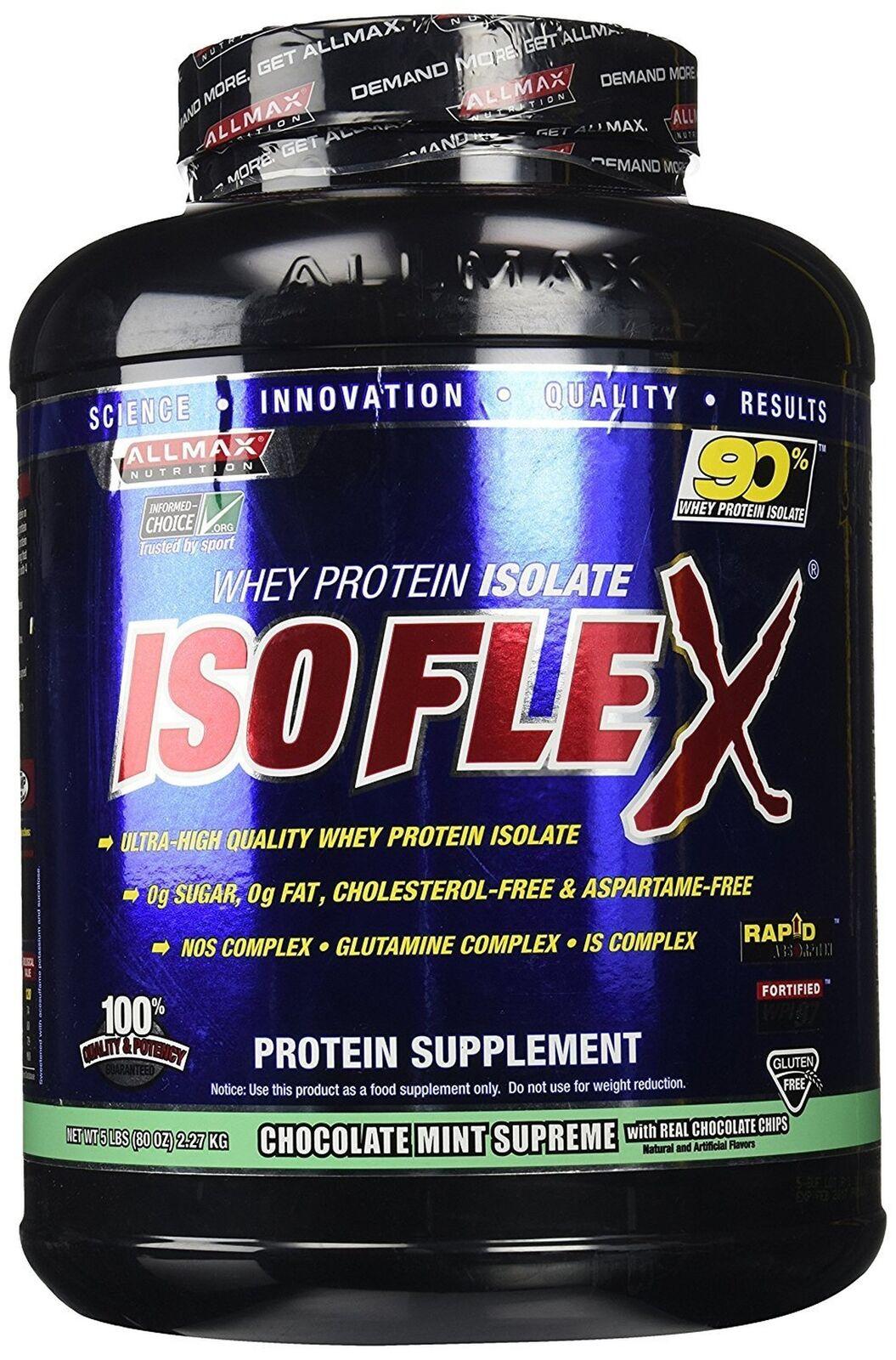 ALLMAX Nutrition Isoflex Isoflex Isoflex Whey Protein Isolate, Chocolate Mint, 5 lbs ab664f