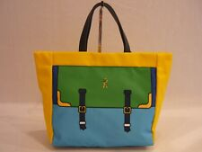Armani Jeans Borsa Shopping in tessuto Canvas Blu   Acquisti