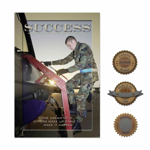 """Air Force SUCCESS Soldier 13/""""×19/"""" Inspirational Motivational Military Poster"""
