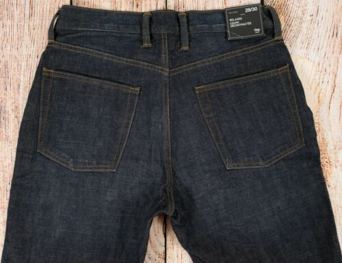 831660 NWT Mens GAP Relaxed Jeans Denim Dark Wash