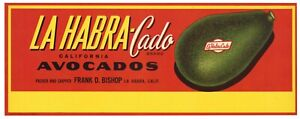 **AN ORIGINAL LABEL** CAL KING Vintage Whittier California Avocado Crate Label