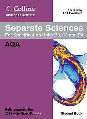 1 of 1 - Collins GCSE Science 2011 – Separate Sciences Student Book: AQA, Nicholls, Lyn,