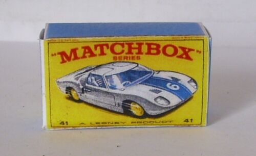 Repro Box Matchbox 1:75 Nr.41 Ford GT Racer