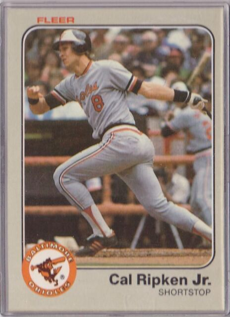 1983 Fleer Cal Ripken Baltimore Orioles 70 Baseball Card