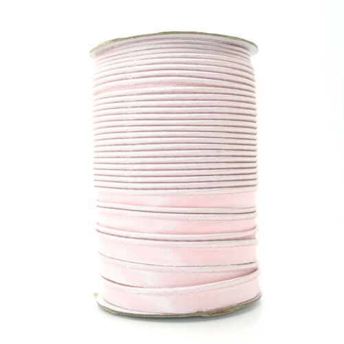 10mm Pink Satin Edging Trimming Piping Ribbon Trim Lame Sewing Crafts 1m S024
