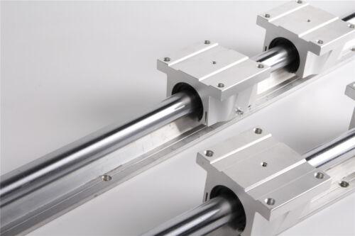 Quality 2pcs TBR25-1500MM  Support Linear Rail 4 TBR25UU Bearing Blocks