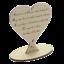 In-Loving-Memory-Mum-Sign-Wedding-Memorial-Personalised-Plaque-Table-Poem-Heart miniatura 25