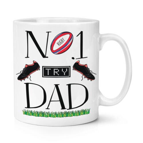 Tasse-Drôle de Père/'s Jour Cadeau environ 283.49 g No.1 Papa Rugby 10 oz