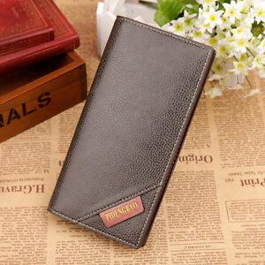 Men's women Quality Top Leather money Long Wallet Credit Card Holder Purse