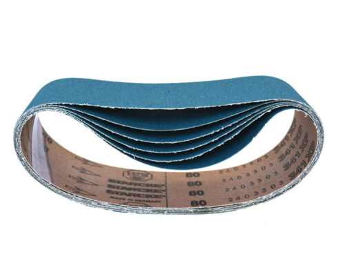 3 X 21 Inch Sanding Belts Zirconia Cloth Narrow Sander Belts 8 Pack, 80 Grit