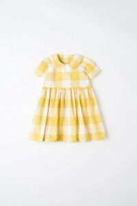 What-Mother-Made-Age-1-2-Yrs-Yellow-Wide-Check-Dress-With-Collar-SA076-FF-17