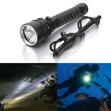 8000Lm Diving Underwater 100m 3x XM-L2 T6 LED Scuba Flashlight Torch Lamp