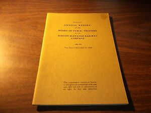 1938 BOSTON ELEVATED RAILWAY COMPANY TRUSTEES REPORT