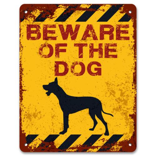 Attenzione al caneda giardino in metallo vintage cartello di avvertimentoPet cautela segno