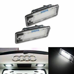 feux de plaque pour Audi  A6  C7 4 ampoules à LED éclairage blanc Veilleuses