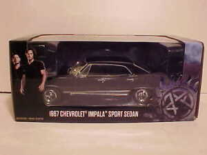 SUPERNATURAL-1967-Chevy-Impala-Sport-Die-cast-Car-1-24-Greenlight-8-inch