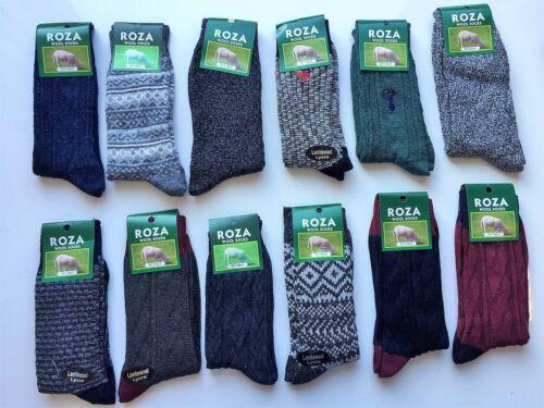 12 paia di Lana Spessa da Uomo Pesante Lavoro Escursionismo Calze Stivale caldo Taglia UK 6-11 tygb