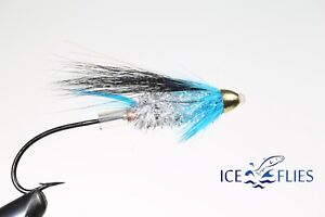 Pick a size. Fransis Black tungsten cone head Tube fly ICE FLIES 3-pack
