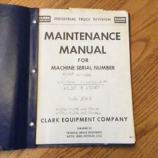 clark forklift parts manual & wiring diagram specs ecs22 ec 522 clark forklift parts diagram item 6 clark ec30b ec40b electric forklift operation maintenance manual guide book bh9 clark ec30b ec40b electric forklift operation maintenance manual