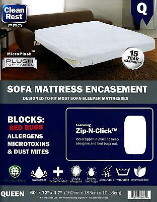 Mattress Encasement Clean Rest PRO SOFA Bed Bug, Allergen ...