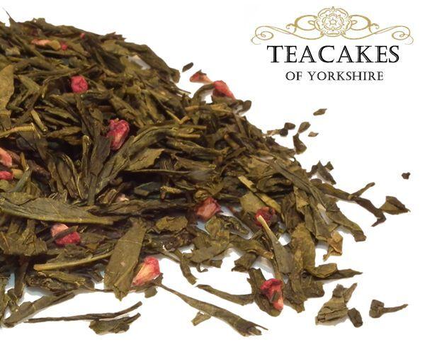Green Loose Leaf Tea Wild Raspberry Quality 100g 250g 500g 1kg Caddy Gift Set