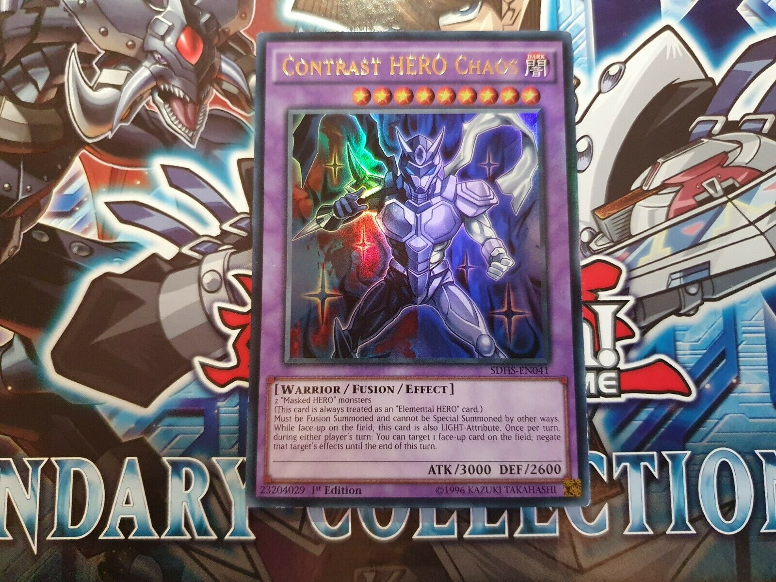 Near Mint Ultra Rare SDHS-EN041 Contrast HERO Chaos Unlimited Edition x3