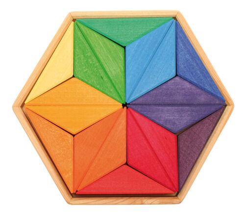 Holzspielzeug Stapelspiele Grimm's Spiel und Holzdesign 43232 Geomatrische Formen Großer Komplementär Stern