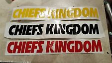 1 x 8 Kansas City Chiefs Kingdom NFL Football Vinyl Decal gold, red or black