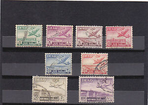 stamps IRAQ AIR MAIL SET 8 FINE USED STAMPS LOOK