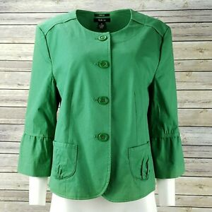 4ef7b55e8 Details about Style & Co. Green 3/4 Bell Sleeve Lightweight Jacket Women's  Plus Size 16W
