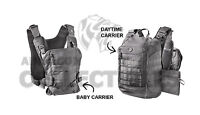 Mission Critical Tactical Front Baby Carrier & Daypack Carrier Bundle Gray Grey