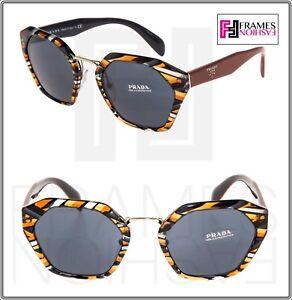46f1ccaff2f Image is loading PRADA-CINEMA-Oversized-Sunglasses-04T-Sheaves-Grey-Orange-