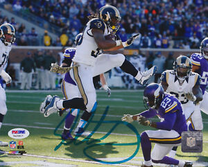 Todd-Gurley-Signed-8x10-St-Louis-Rams-Photo-Vikings-Leap-PSA-DNA-COA