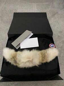 New-Genuine-Canada-Goose-Carson-Parka-Jacket-Black-Small-Coyote-Fur-RRP-950