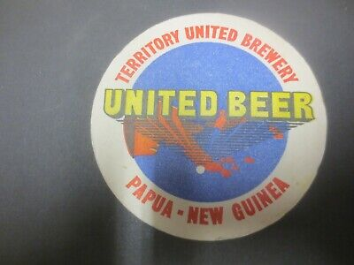1 only Territory United Brewery,Papua New Guinea  Issue BEER COASTER