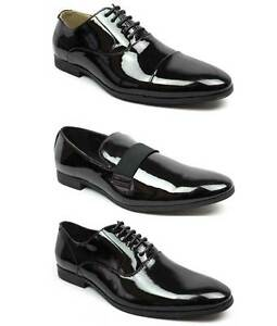 fa535f140753 New Men's Black Patent Leather Tuxedo Dress Shoes Formal Shiny ...