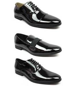 New-Men-039-s-Black-Patent-Leather-Tuxedo-Dress-Shoes-Formal-Shiny-Wedding-Prom-AZAR
