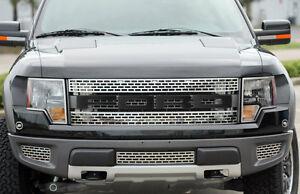 2010-2014-Ford-F-150-Raptor-Carbon-Fiber-FORD-Front-Grille-Grill-Letters-Emblems