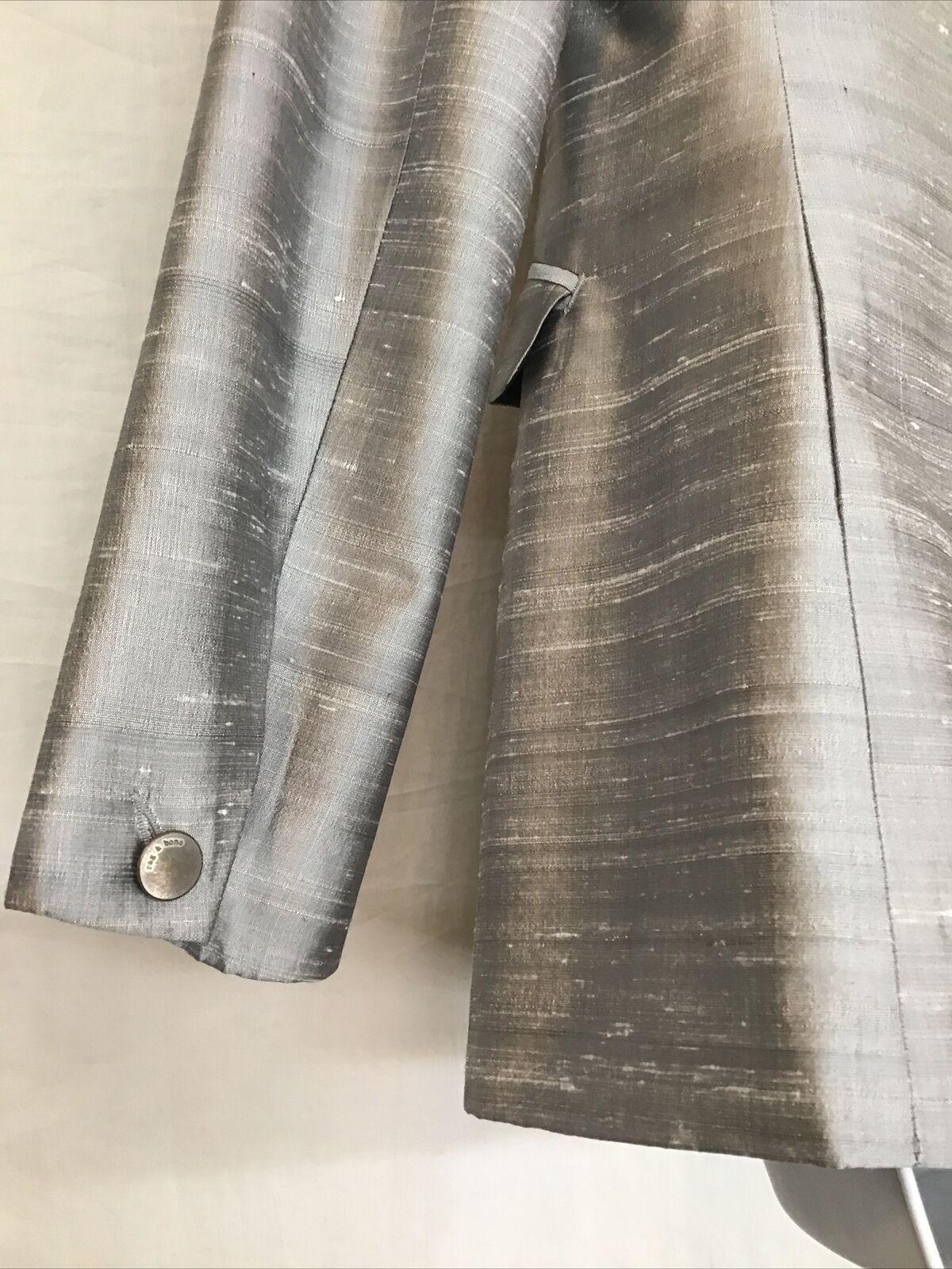 rag and bone  Suit Jacket silver gray silk peak s… - image 6