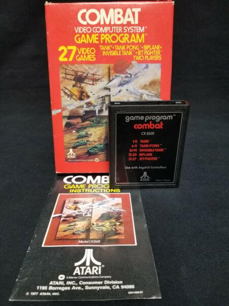 "1978 Vintage Atari 2600 ~ ""combat"" Vcs Game ~ Instruction Booklet Glanzend"