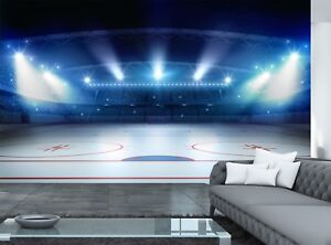 Details About Ice Hockey Stadium Photo Wallpaper Wall Mural Decor Paper Poster Free Paste